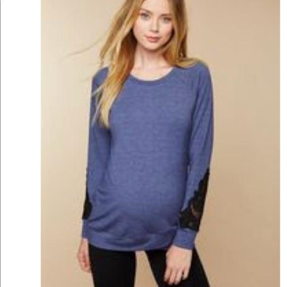 d1b470973f Maternity sweatshirt with black lace detail. M_5b96f14ef63eea734dac79c0